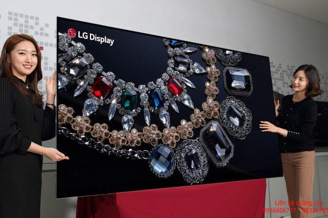 LG ra mắt TV OLED 8K đầu tiên thế giới
