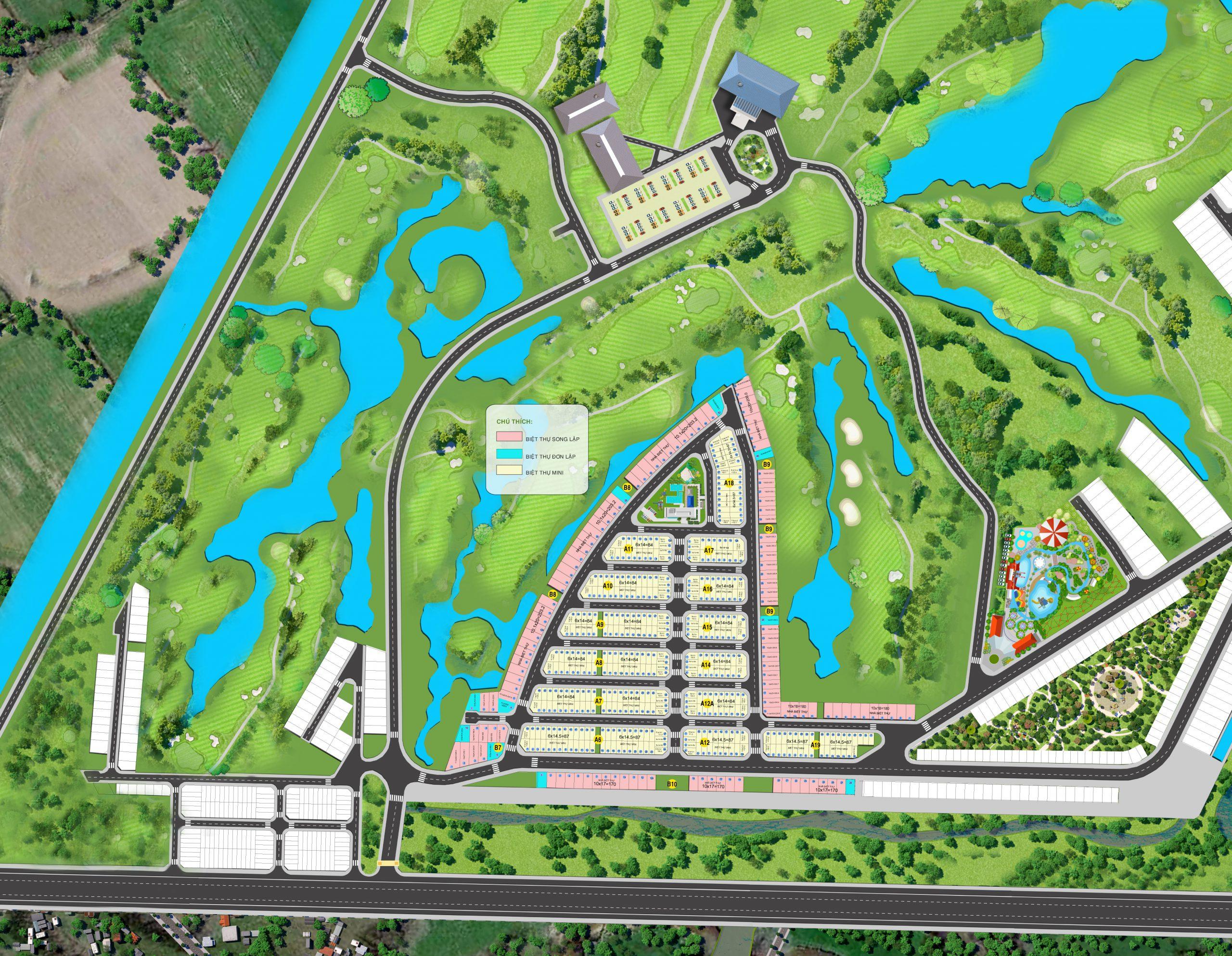 Đôi nét về dự án biệt thự nghỉ dưỡng West Lakes Golf & Villas