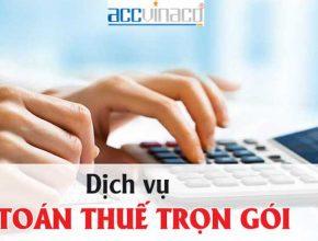 Kế toán thuế trọn gói Quận Tân Phú